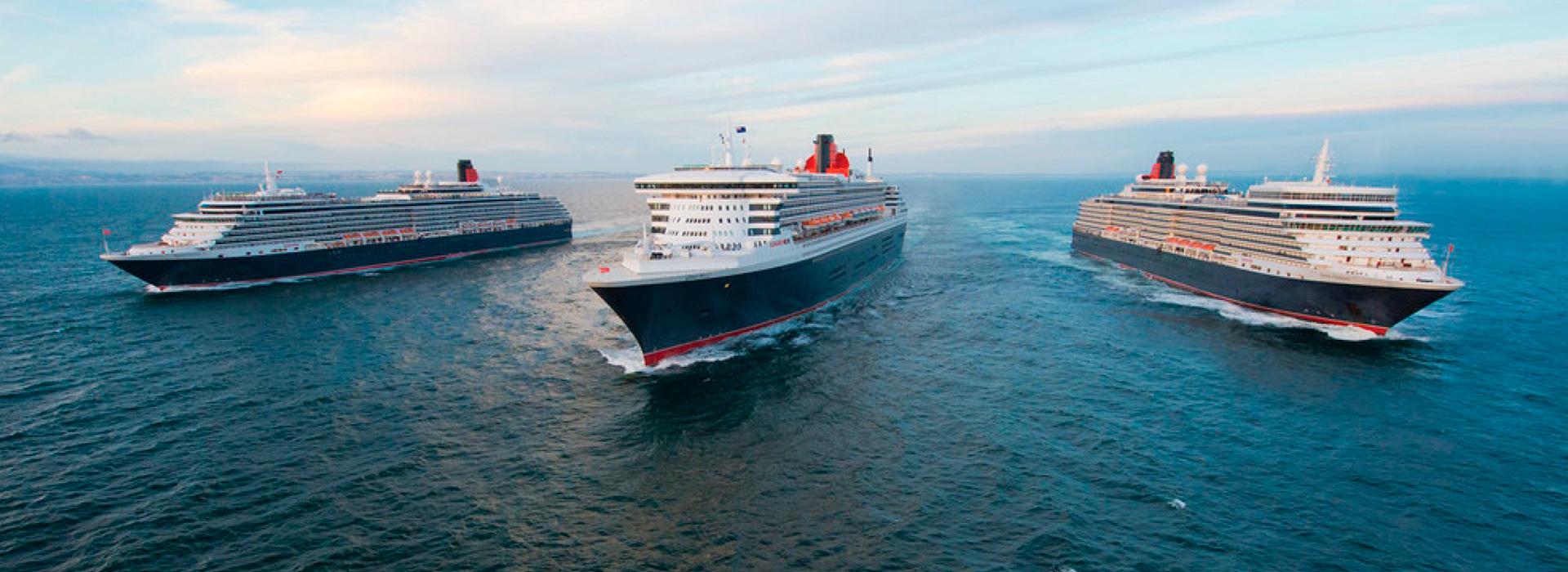 3 Queens Schiffe von Cunard