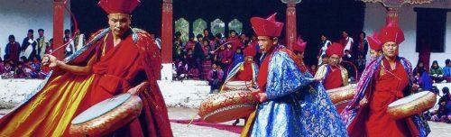 Festival in Bhutan - Musikanten