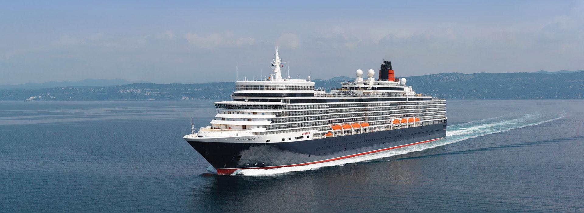 Queen Elizabeth auf See