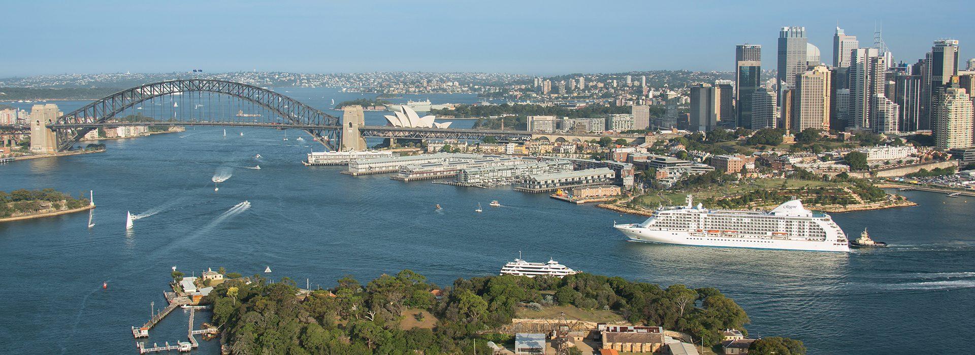 Regent Seven Seas, Kreuzfahrten, Voyager, Sydney-Harbor
