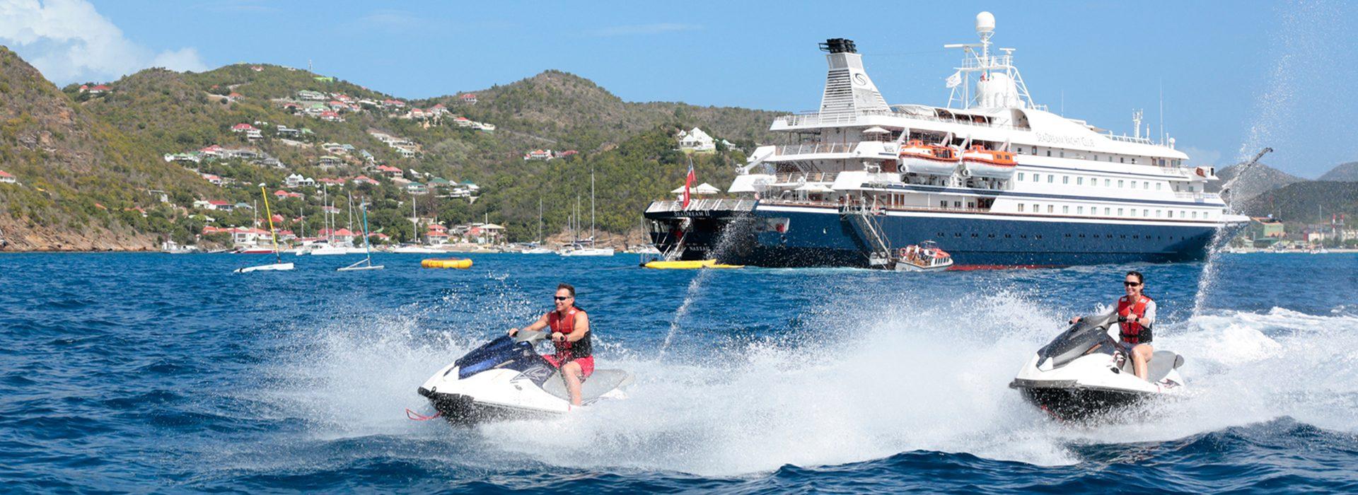 Wassersport auf den Luxusyachten SeaDream I und Sea Dream II
