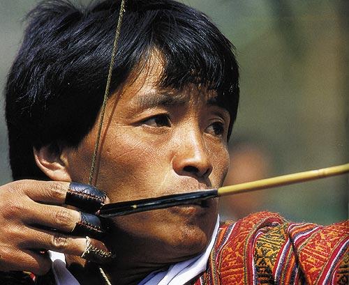 Bogenschütze in Bhutan