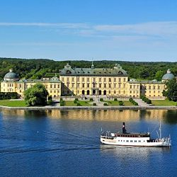 Göta Kanalreise Blick auf Schloss Drottingholm