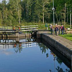 Göta Kanal Schleuse Forsik und christliche Familie