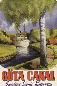Göta Kanal nostalgische Kreuzfahrt Historisches Plakat