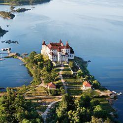 Göta Kanal Reisen Blick auf Schloss Läckö