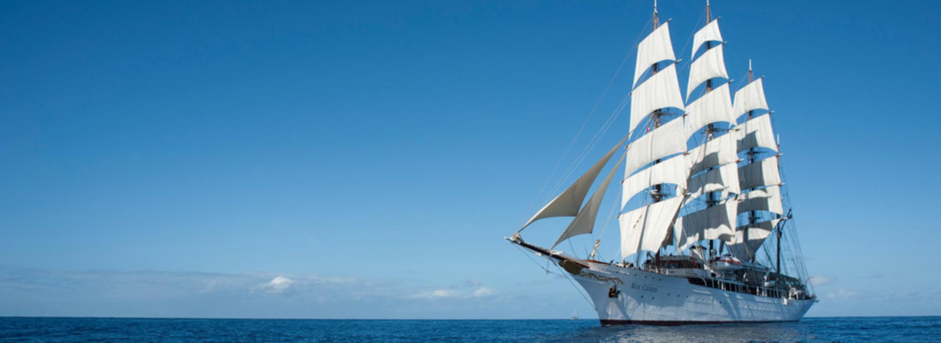 Segelschiff Sea Cloud auf See